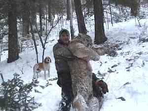 Eric with record cougar, February 1, 2007
