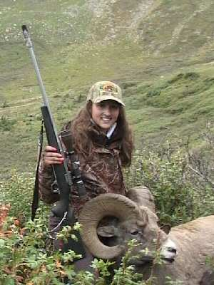 Morgan Peck with her 162 4/8 Ram
